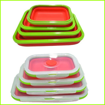 Cheap price for Bento Lunch Box Set Oven Safe Take Away Silicone Lunch Box supply to Panama Factory
