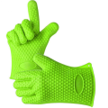 Heat Resistant Silicone Gloves with Soft Fingers
