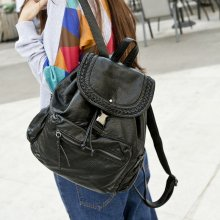 Simple and fashionable washed leather leisure travel bag