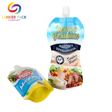 Custom Standing Food Packaging Bag With Spout