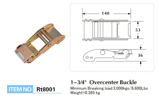 Push Cap Type Over Center Buckle 3000KGS Breaking Strength