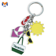 Custom metal logo keyring for vacation