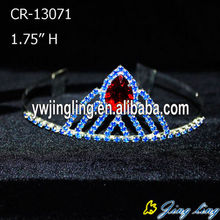 Special for Hair Accessories for Weddings Red Rhinestone Bridal Wedding Tiaras Pageant Crown supply to Bhutan Factory