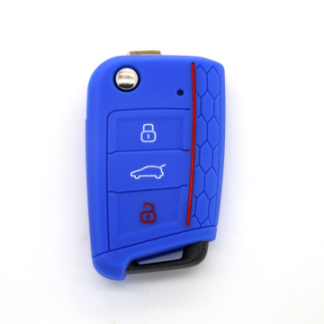 Hot sale reasonable price for VW Silicone Key Fob Cover Factory Silicone car key case for Golf 7 export to Netherlands Manufacturer