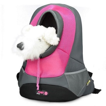 Pink XLarge PVC and Mesh Pet Backpack