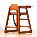 Solid wood  adjustable High Chair Childcare Child Eating Table Seat Baby Feeding Highchair