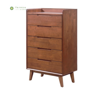 Full Solid Wood 5 Drawers Chest for Home