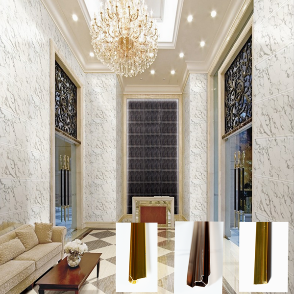 The new decoration materials pvc artificial marble sheet
