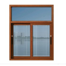 2019 aluminum sliding window with blinds factory sale