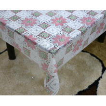 Printed pvc lace tablecloth by roll protector