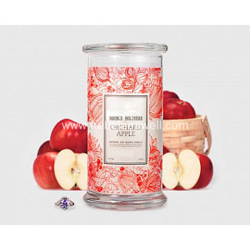 Elegant Jewelry Secret Scented Soy Candles in Glass Holder