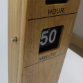 Erect Cuboid Wooden Flip Clock