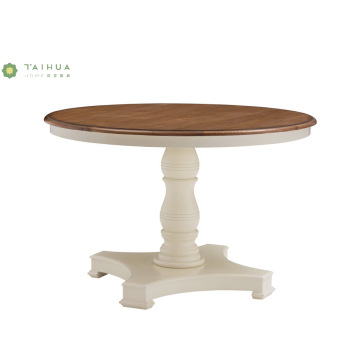 Round Top Solid Wood Dining Table