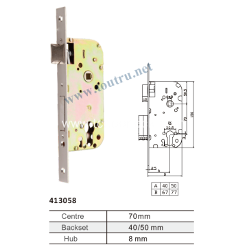 spain double bolt 70mm hole mortise door lock