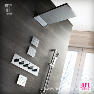 Excellent quality for for Thermostatic Shower Faucet HIDEEP Shower Set Thermostatic Rain Shower Faucet export to Spain Exporter