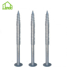 Steel galvanized ground screw for building houses
