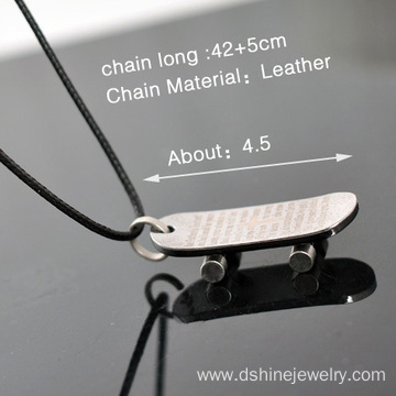 China for Necklace For Men Wax String Neutral Titanium Steel Pendant Man Necklace supply to Solomon Islands Factory
