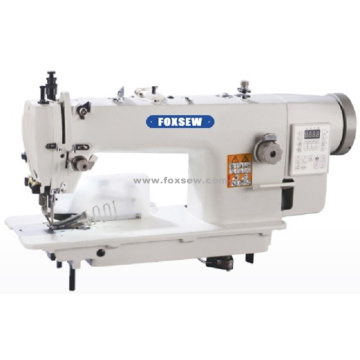 Direct Drive Top and Bottom Feed Lockstitch Machine with Rear Cutter and Tape Binder