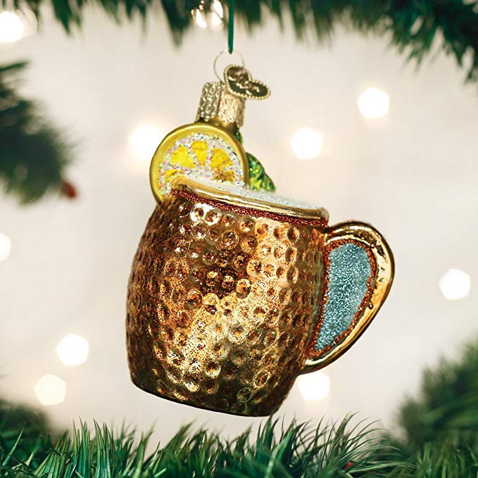 pineapple cup glass ornament