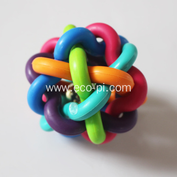 Dog Chew Rubber Ball Toy With Bells