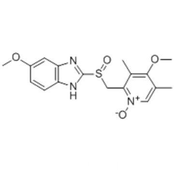 5-METHOXY-2 - [((4-METHOXY-3,5-DIMETHYL-1-OXIDO-2-PYRIDINYL) METHYL) SULFINYL] -BENZIMIDAZOLE CAS 176219-04-8