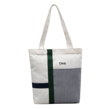 Black Sublimation Cotton Canvas Tote Bag