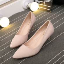 Women's Pointed Toe Middle Heel Pumps