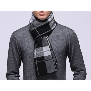 50% Wool 50% Cashmere Knitted Scarf