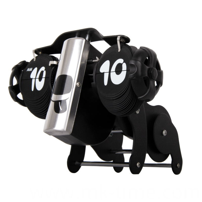 Metal Animal Dog Table Flip Clock
