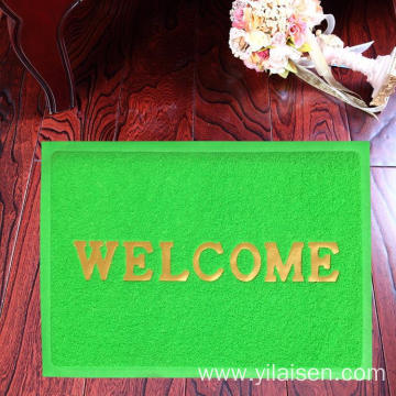 welcome design floor mat in different languages