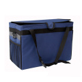 Black Strap Car Garbage Can Bag Storage Pockets