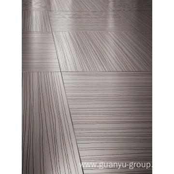Gray Line Pattern Rustic Porcelain Floor Tile