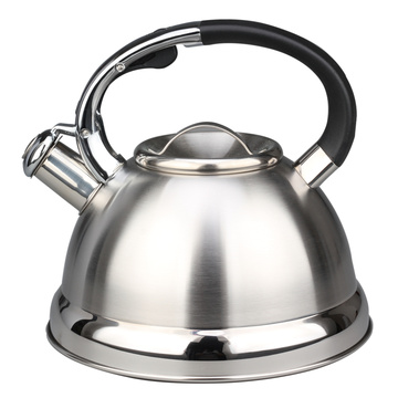 Silver Stainless Steel Whistling Kettle