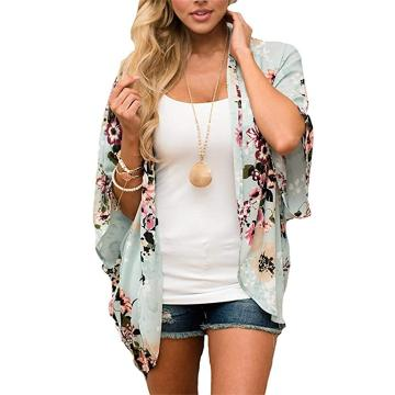 One of Hottest for Women Masquerade Mask Womens Floral Chiffon Casual Cardigan Kimono Cover Up supply to Philippines Supplier