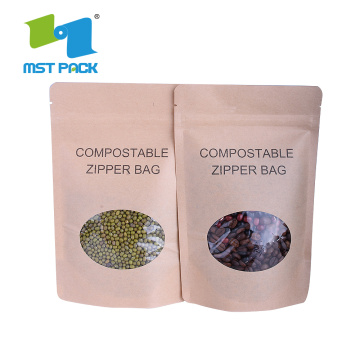 Wholesale Degradable Food Grade Brown Kraft Paper Bag