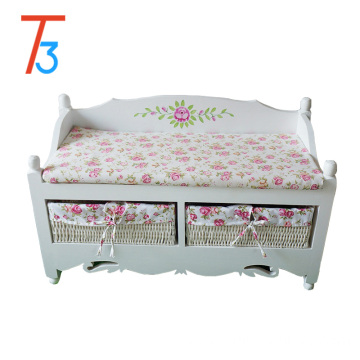 Modern Fashionable Wooden Shoes Bench Footstool for Home Furniture