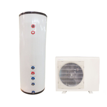 Split air source heat pump with water tank