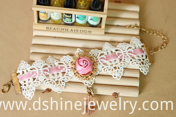 Ribbon Rose Lace Bracelet