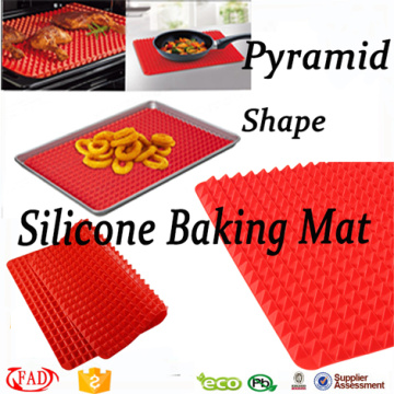 Cheap price for Silicone Pastry Mat New Arrival Square Shaped Silicone Pyramid Baking Mat supply to Brunei Darussalam Factory