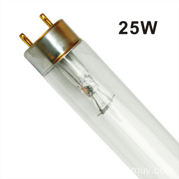 Air disinfection double-ended UV-C lamp