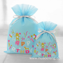 Blue Non-woven Gift Packaing Bag For Boy