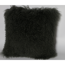 Long Curly Mongolian Lamb Fur Sofa Pillow