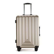 pure abs pc hard shell aluminum trolley luggage