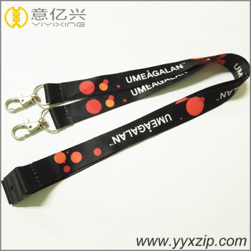 custom logo double metal clip breakaway lanyards