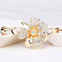 Customized for JingLing Fashionable Collar Necklaces Women Jewelry Rhinestone And Alloy Materials Pretty Lady Necklaces Personalized Design Wholesale alloy crystal flower necklace for women export to Ukraine Factory