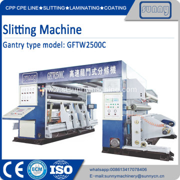 Best Quality for Gantry Type Film Slitting Paper Roll Automatically Rewinding Slitting Machine export to Indonesia Manufacturer