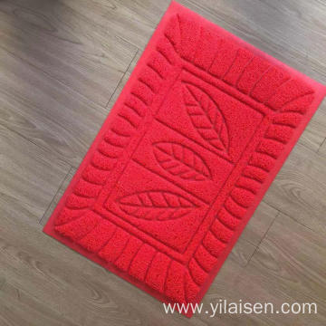 PVC coil mat for bathroom with embossed design