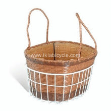 Wicker Dog Bicycle Basket