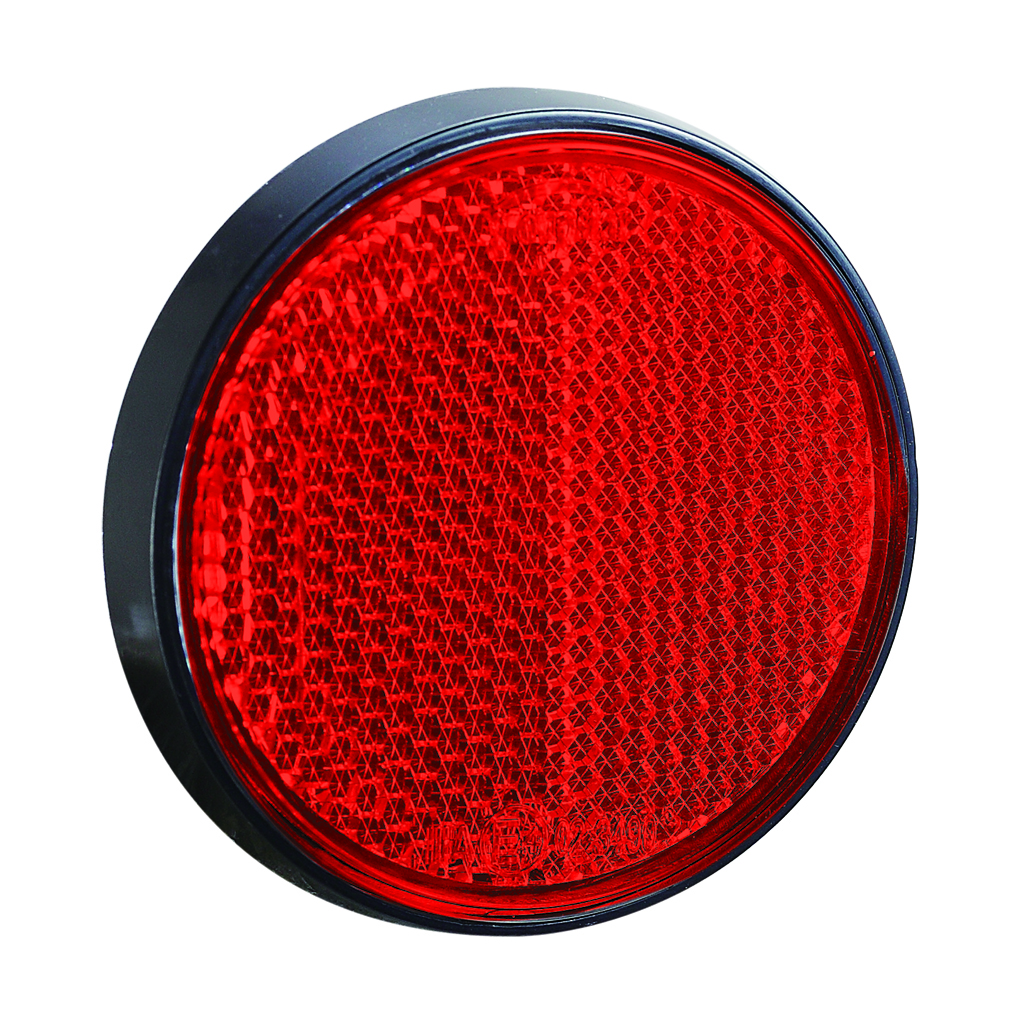 Round Backup Red Reflector