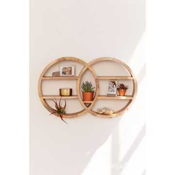Double Round Wall Shelf